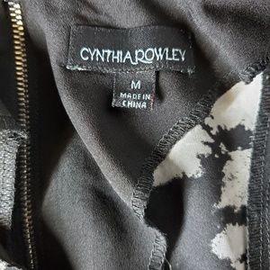 Cynthia Rowley Tops - Cynthia Rowley Black and White Floral Blouse
